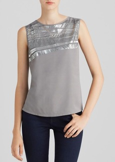 Calvin Klein Metallic Embellished Top