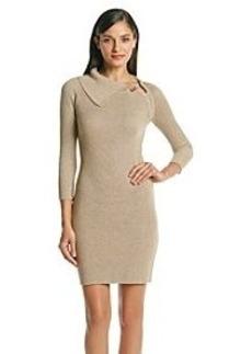 Calvin Klein Metallic Knit Sweater Dress