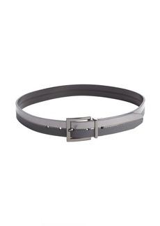 Calvin Klein metallic pewter and grey reversible belt
