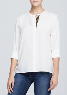 Calvin Klein Metallic Placket Blouse
