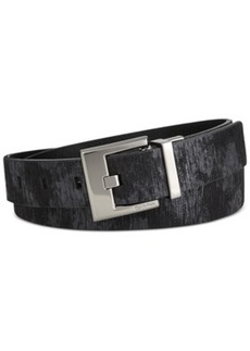 Calvin Klein Metallic Wood Grain Belt