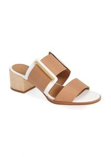 Calvin Klein 'Milla' Double Band Leather Slide Sandal (Women)