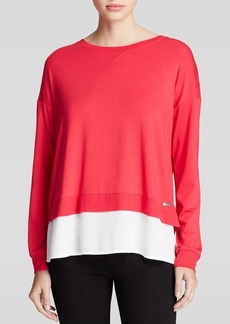 Calvin Klein Mixed Media Pullover