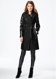 Calvin Klein Mixed-Media Trench Coat