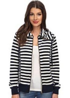 Calvin Klein Mixed Striped Funnel Neck Jacket