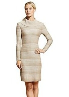 Calvin Klein Mock Neck Space Dye Dress