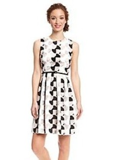 Calvin Klein Multi Print Fit And Flare Dress