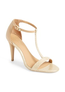 Calvin Klein 'Nasi' Leather T-Strap Sandal (Women)