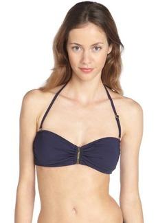 Calvin Klein navy convertible bandeau bikini top