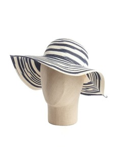 Calvin Klein navy stripe space dyed star floppy sun hat
