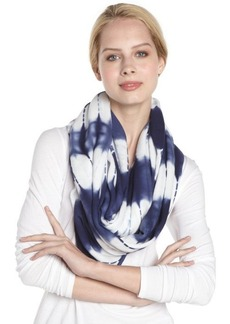 Calvin Klein navy tie dyed infinity scarf