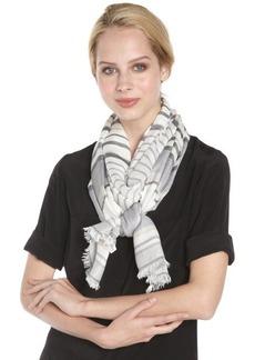 Calvin Klein neutral 'Cabana' stripe scarf
