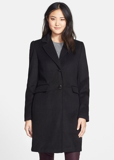 Calvin Klein Notch Collar Wool Blend Coat