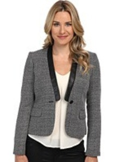 Calvin Klein Novelty Jacket w/ Pu Trim