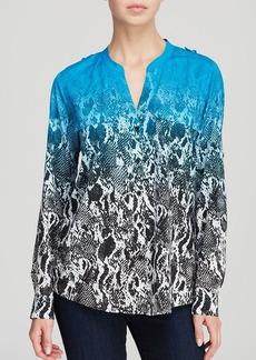Calvin Klein Ombre Abstract Print Blouse