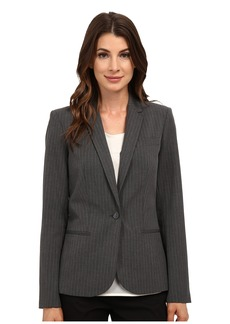 Calvin Klein One-Button Pinstripe Jacket