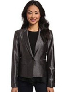 Calvin Klein One-Button Shiny Jacket
