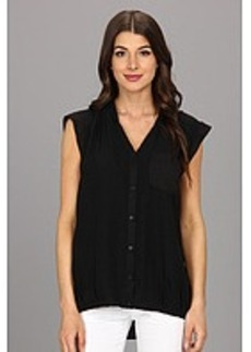 Calvin Klein One Pocket Box Polyester Chiffon Top