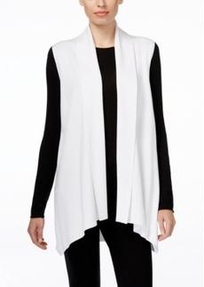 Calvin Klein Open-Front Draped Vest