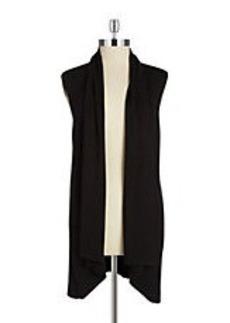 CALVIN KLEIN Open Front Knit Vest