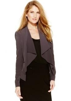 Calvin Klein Open-Front Zip-Pocket Jacket