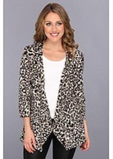 Calvin Klein Open Ruffle Animal Print Jacket