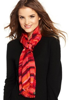 Calvin Klein Oversized Watercolor Stripe Wrap