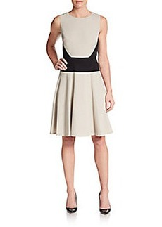Calvin Klein Paneled Fit-And-Flare Dress