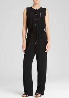 Calvin Klein Patch Pocket Drawstring Jumpsuit