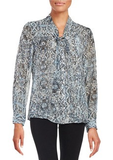 CALVIN KLEIN Patterned Blouse