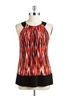 CALVIN KLEIN Patterned Halter Shell