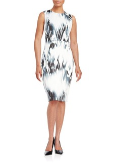 CALVIN KLEIN Patterned Scuba Dress
