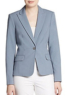 Calvin Klein Peak Lapel Single-Button Blazer