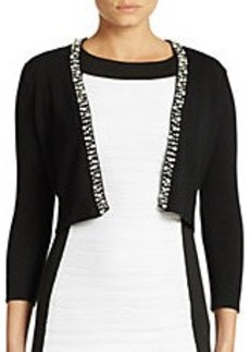 CALVIN KLEIN Pearl Cropped Cardigan
