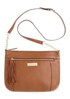 Calvin Klein Pebble Leather Messenger Bag