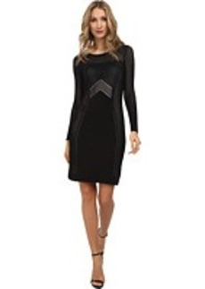 Calvin Klein Perferated Detail Knit Sweater Dress