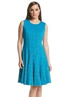 Calvin Klein Perforated Fit And Flare Dress