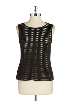 CALVIN KLEIN Perforated Sleeveless Blouse