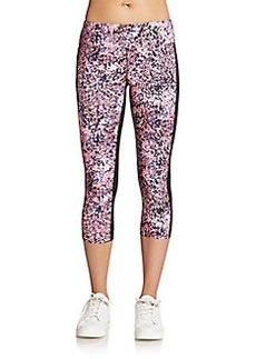 Calvin Klein Performance Abstract-Print Paneled Performance Leggings