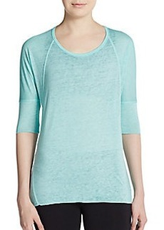Calvin Klein Performance Asymmetrical Seamed Performance Pullover