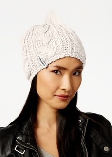 Calvin Klein Performance Cable Faux Sherpa Lined Beanie