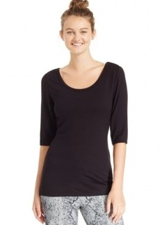 Calvin Klein Performance Cross-Back Ballet-Sleeve Top