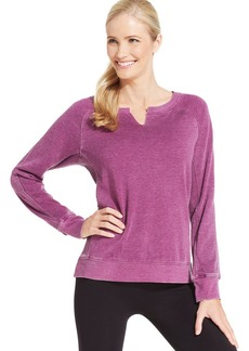 Calvin Klein Performance Faded Thermal-Panel Pullover