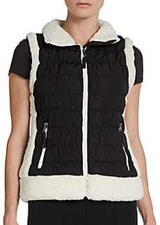 Calvin Klein Performance Faux-Shearling Trimmed Performance Vest