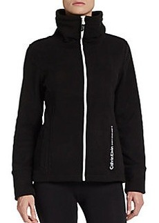 Calvin Klein Performance Funnel Collared Logo Performance Jacket