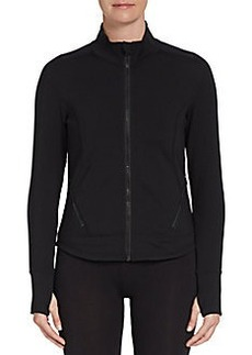 Calvin Klein Performance Illusion-Back Zip Performance Jacket