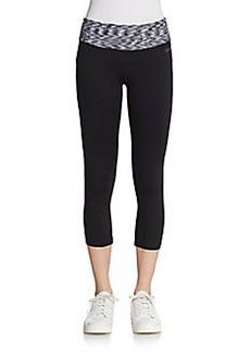 Calvin Klein Performance Marled-Waist Cropped Leggings