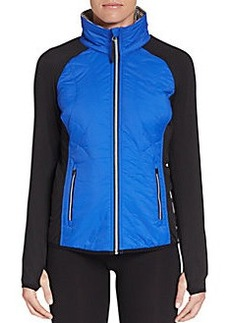 Calvin Klein Performance Packable Quilted Ripstop & Knit Jacket
