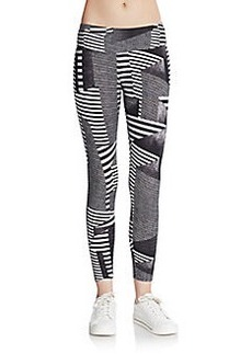 Calvin Klein Performance Printed Stretch Cotton Performance Leggings