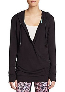 Calvin Klein Performance Ruched Mock-Wrap Pullover